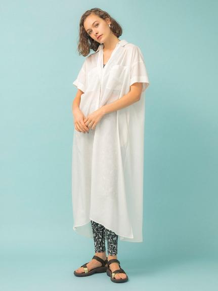 【emmi atelier】BIGシャツワンピース(WHT-0)