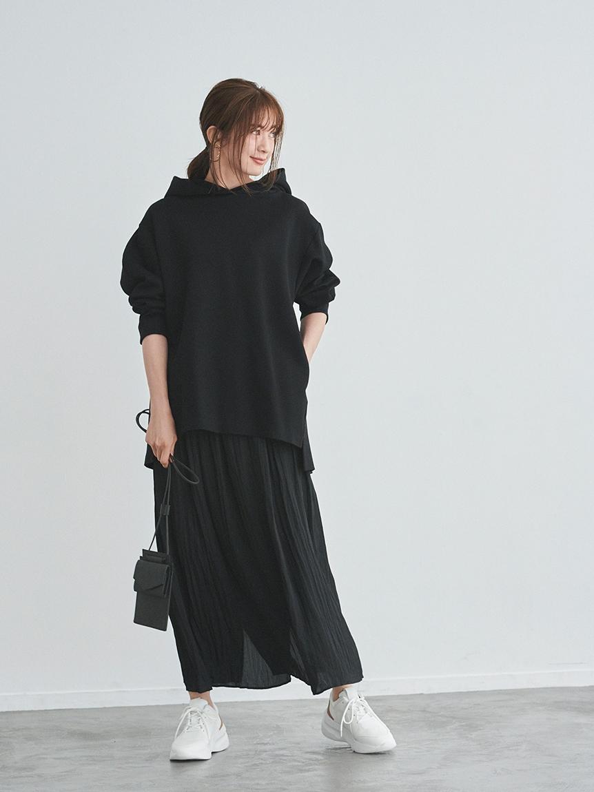 【emmi atelier】フーディセットスカート(BLK-0)