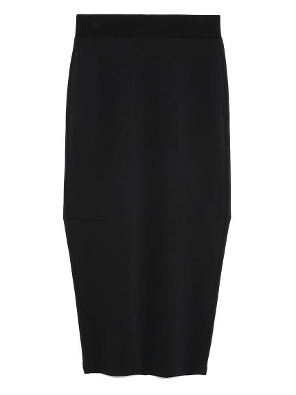【emmi atelier】ジョーゼットスカート(BLK-0)