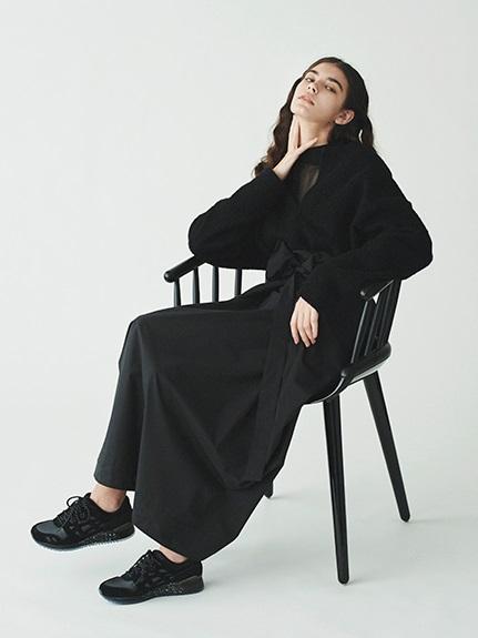 【emmi atelier】ハイテクタフタスカート(BLK-0)