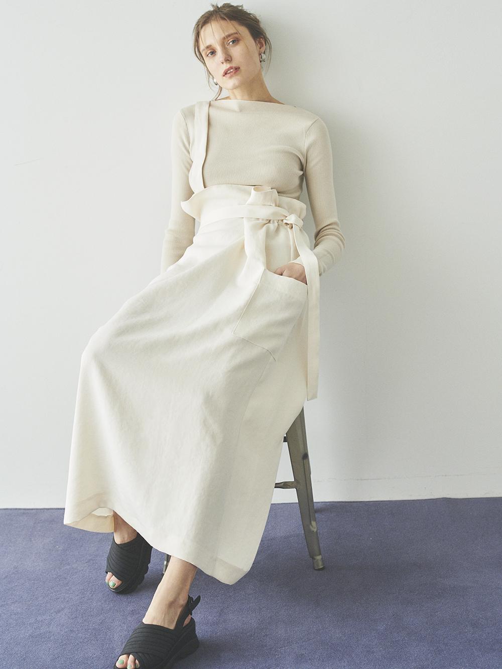 【emmi atelier】オックスワンショルスカート(IVR-0)