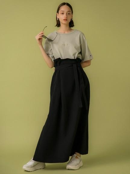 【emmi atelier】オックスワンショルスカート(BLK-0)