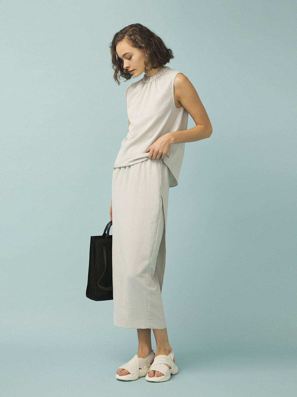 【emmi atelier】2WAYドライツイルスカート(LGRY-0)