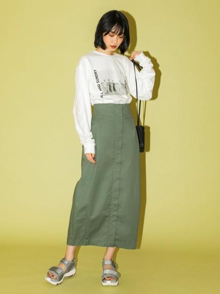 【emmi atelier】ハイウエストタイトスカート(GRN-0)