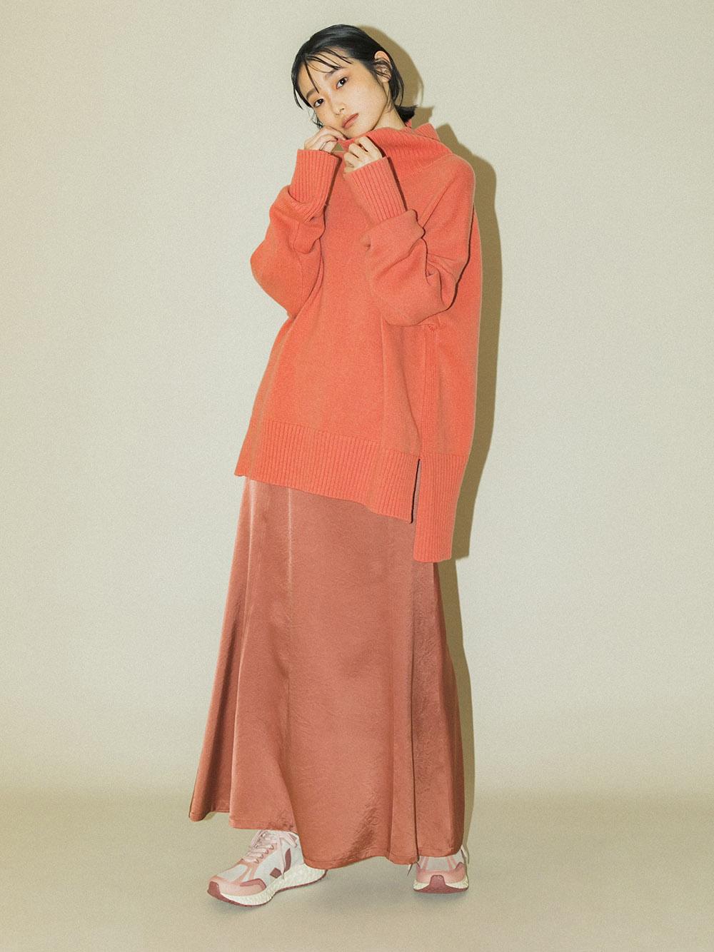 【emmi atelier】ハイウエストサテンスカート