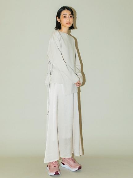 【emmi atelier】ハイウエストサテンスカート(LBEG-0)