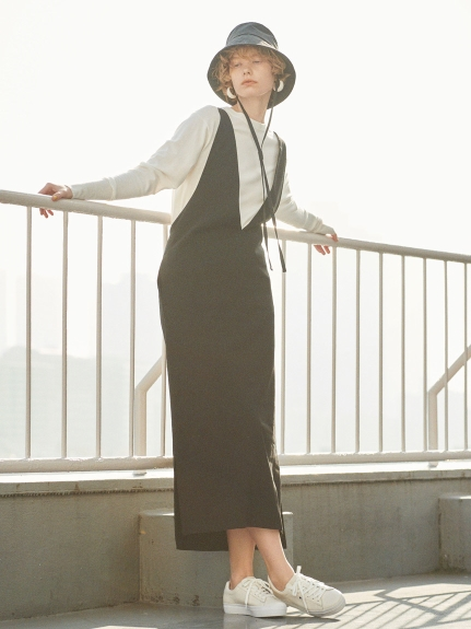 【emmi atelier】3WAYジャンパースカート