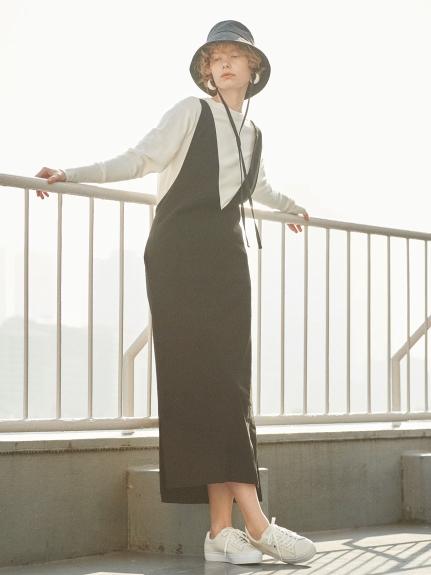 【emmi atelier】3WAYジャンパースカート(BLK-0)