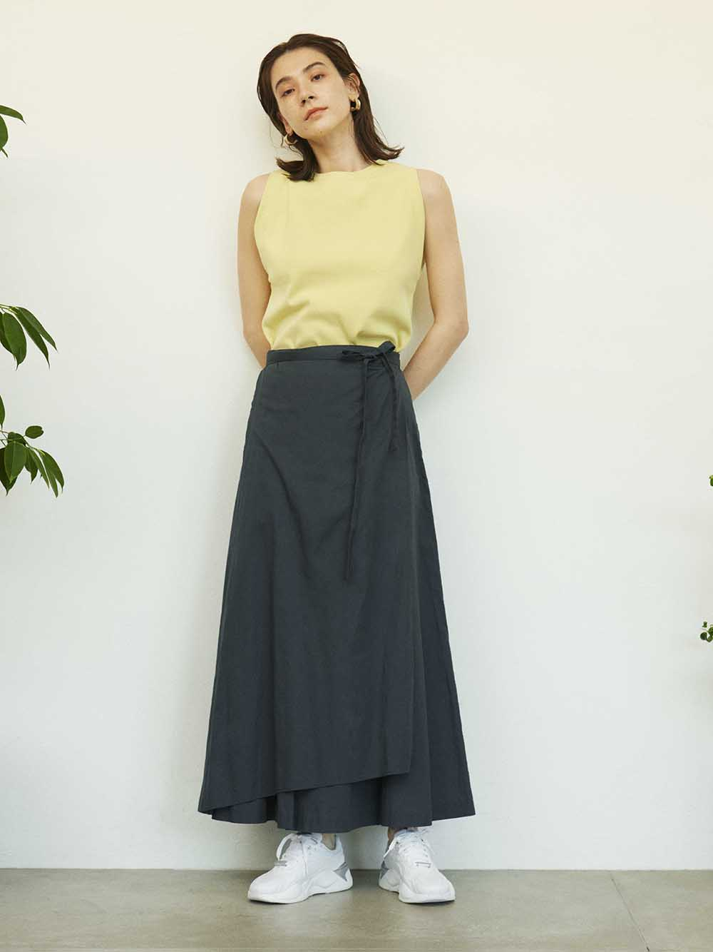 【emmi atelier】リネンナロー巻きスカート