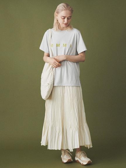 【emmi atelier】VIBTEXワッシャーパネルスカート(OWHT-0)