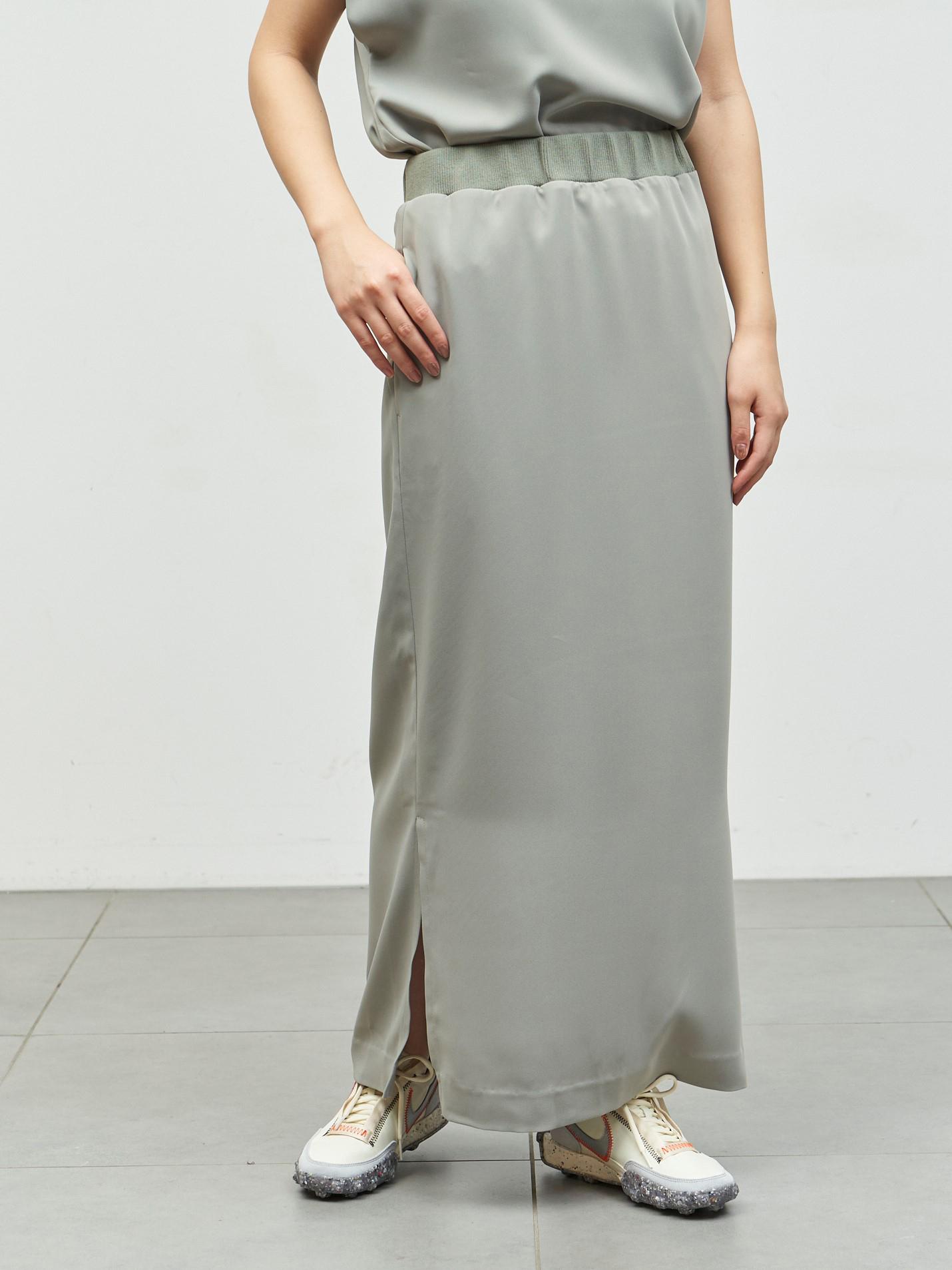 【emmi atelier】イージーケアIラインスカート(OLV-F)