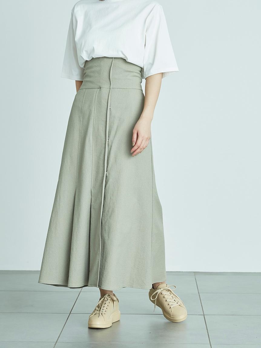【emmi atelier】ハイウエストストレッチスカート(OLV-0)