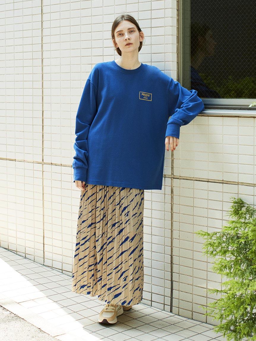 【emmi atelier】切替えワッシャースカート(BEG-0)