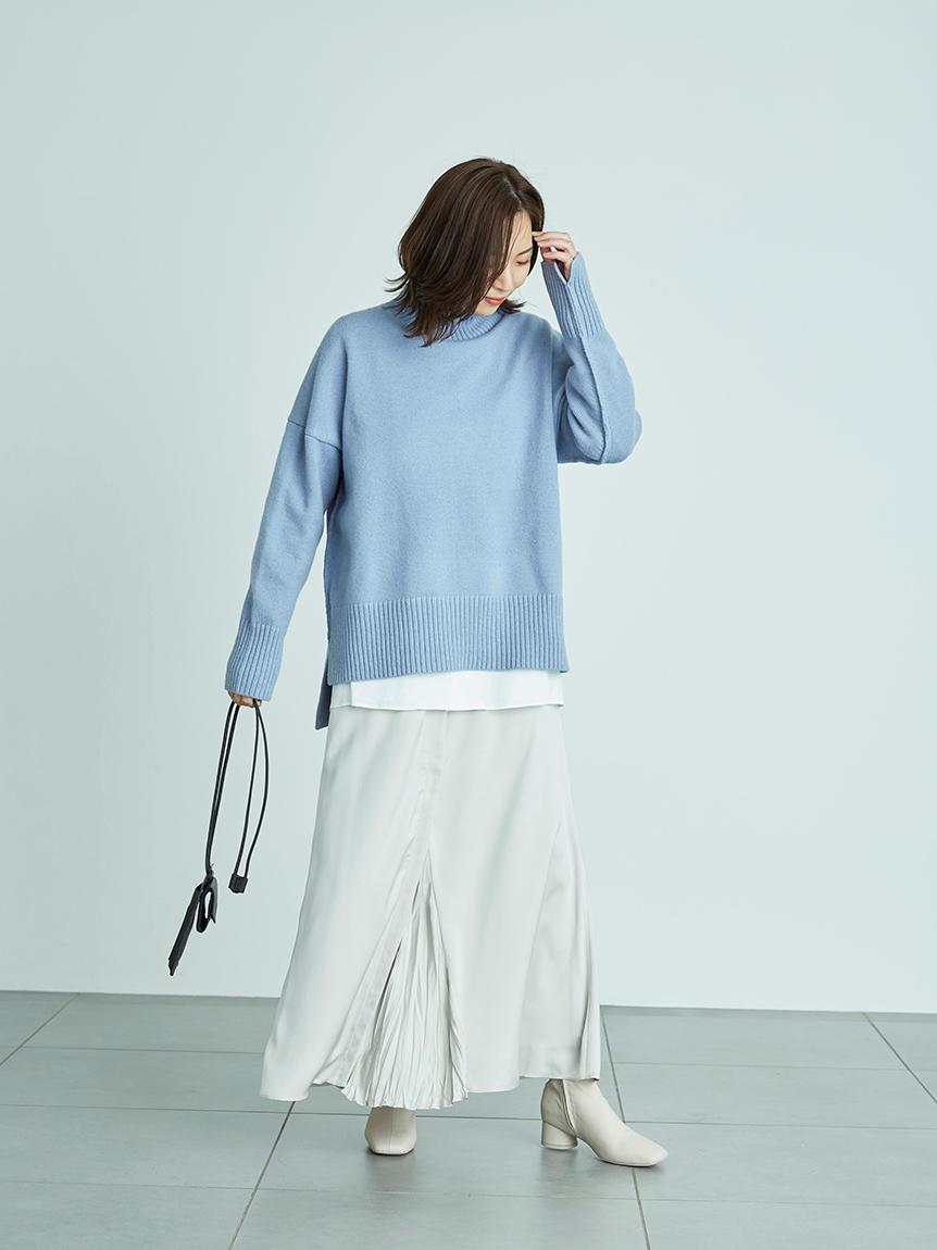 【emmi atelier】センター切替えサテンスカート(LGRY-0)