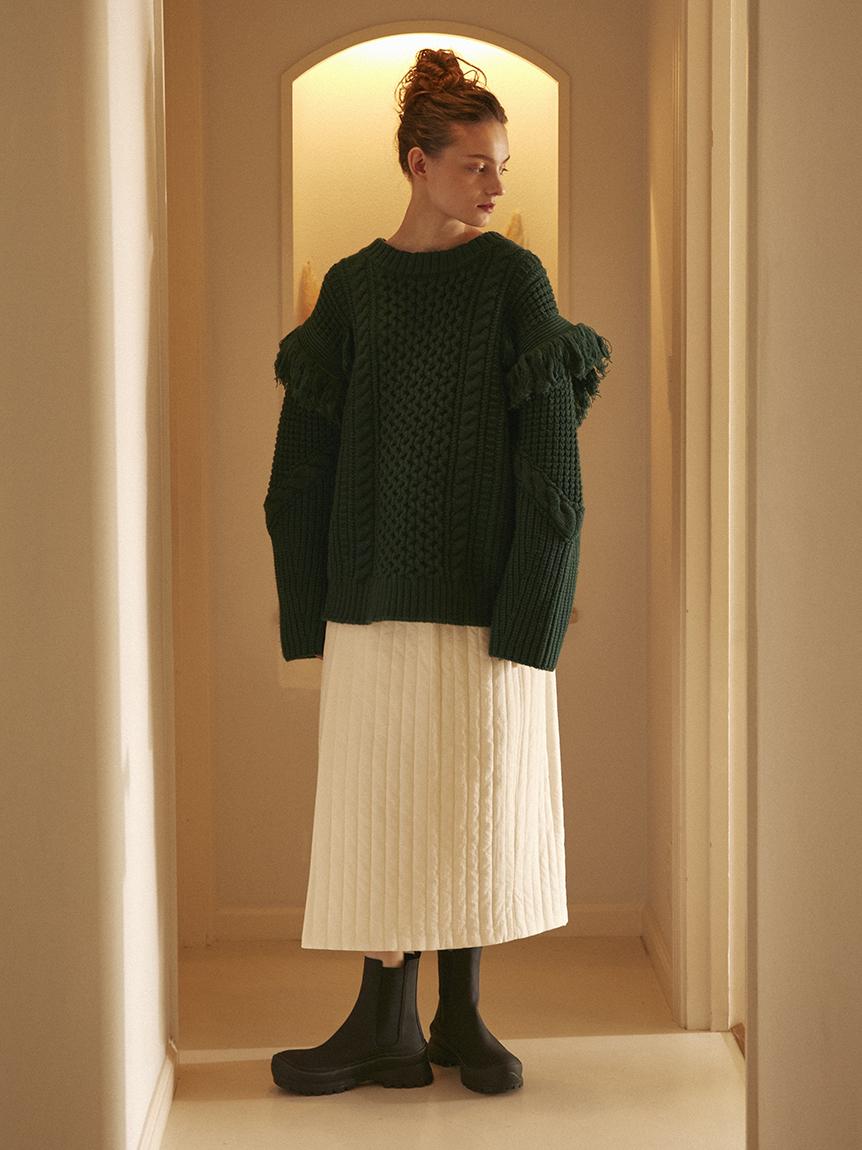 【emmi atelier】キルティングスカート(OWHT-F)