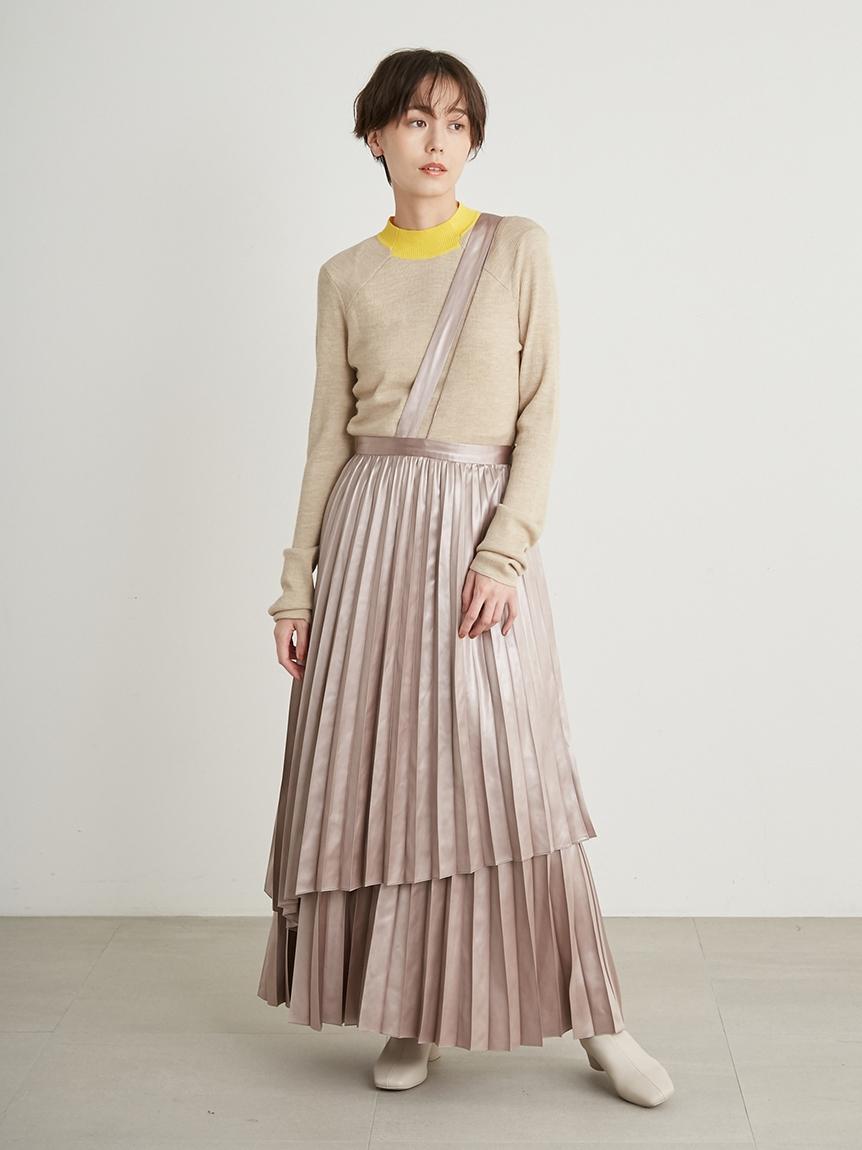 【emmi atelier】レイヤープリーツスカート