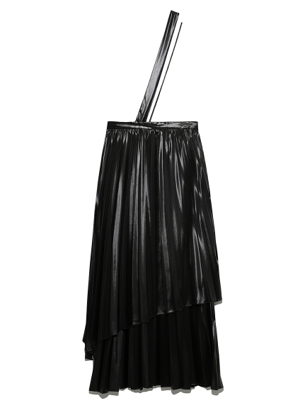 【emmi atelier】レイヤープリーツスカート(BLK-0)