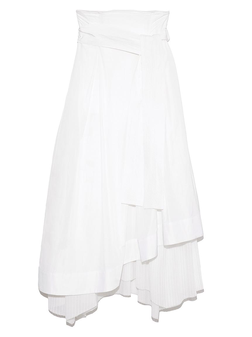 【emmi atelier】タフタプリーツコンビスカート(WHT-0)