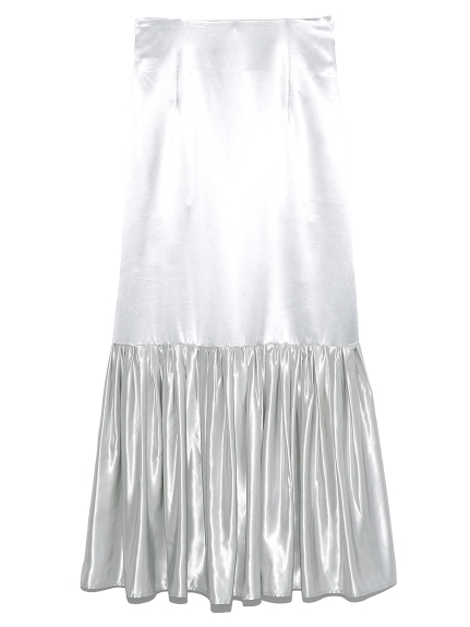 【emmi atelier】ヘムギャザーハイウエストスカート(SLV-0)
