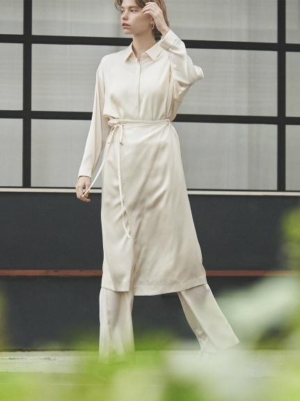 【emmi atelier】マルチロングワイドシャツ(IVR-0)
