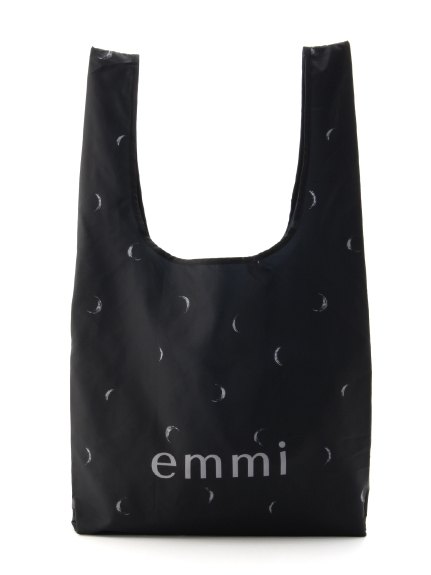 【emmi atelier】emmi ムーンプリントecoバッグ(BLK-F)