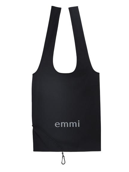 【emmi atelier】emmiロゴポケッタブルトート(BLK-F)