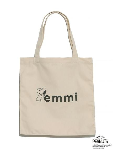 【emmi atelier】emmixSNOOPYオーガニック撥水トートバッグ(OWHT-F)