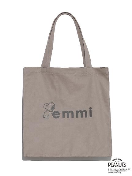【emmi atelier】emmixSNOOPYオーガニック撥水トートバッグ(GBEG-F)