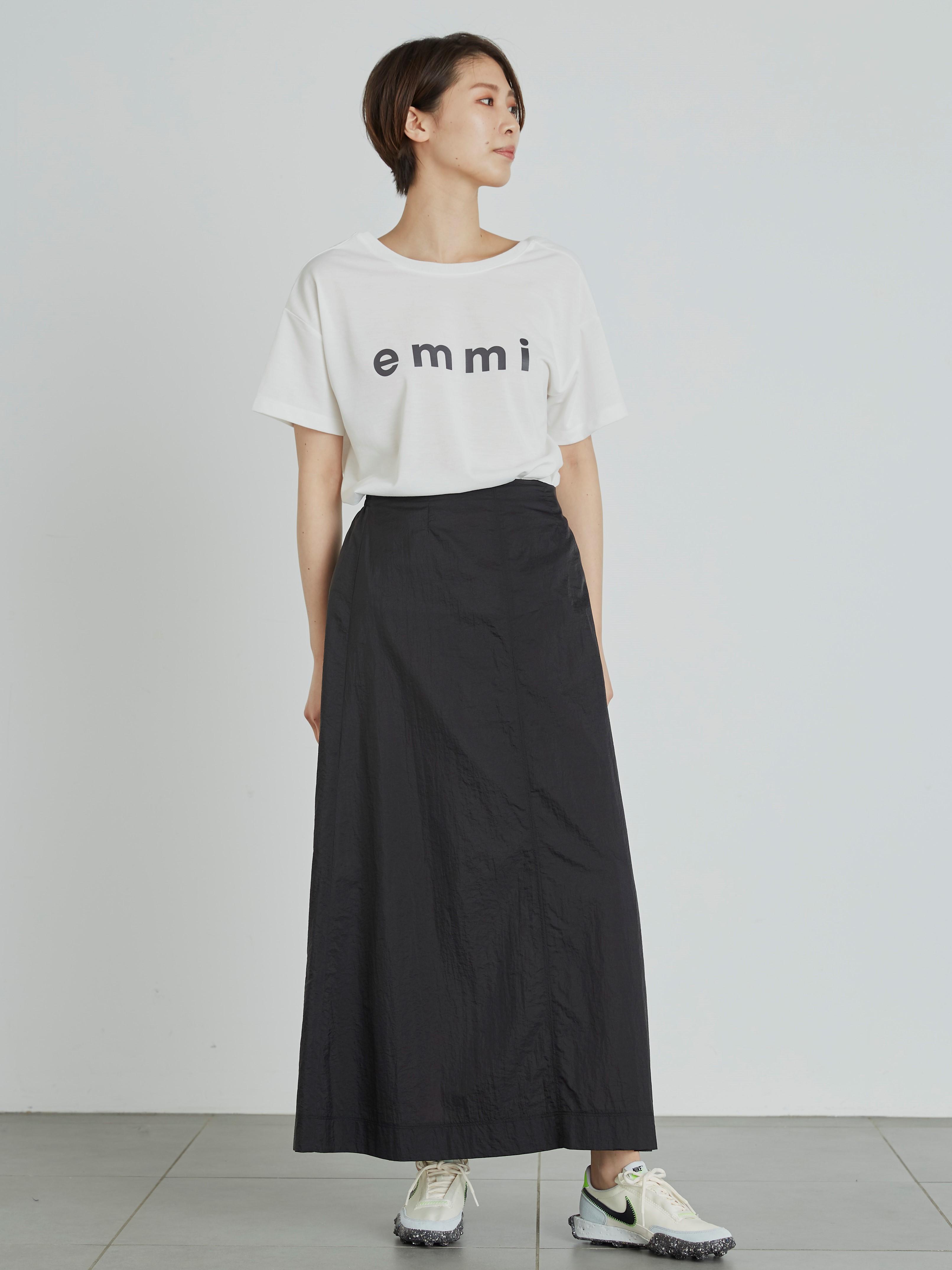 【emmi atelier】pocketableスカート(BLK-F)