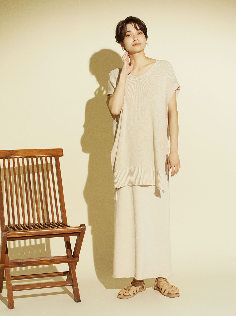 【emmi atelier】ニットタイトスカート