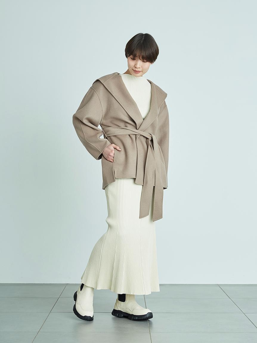 【emmi atelier】ヘムフレアニットスカート(IVR-F)