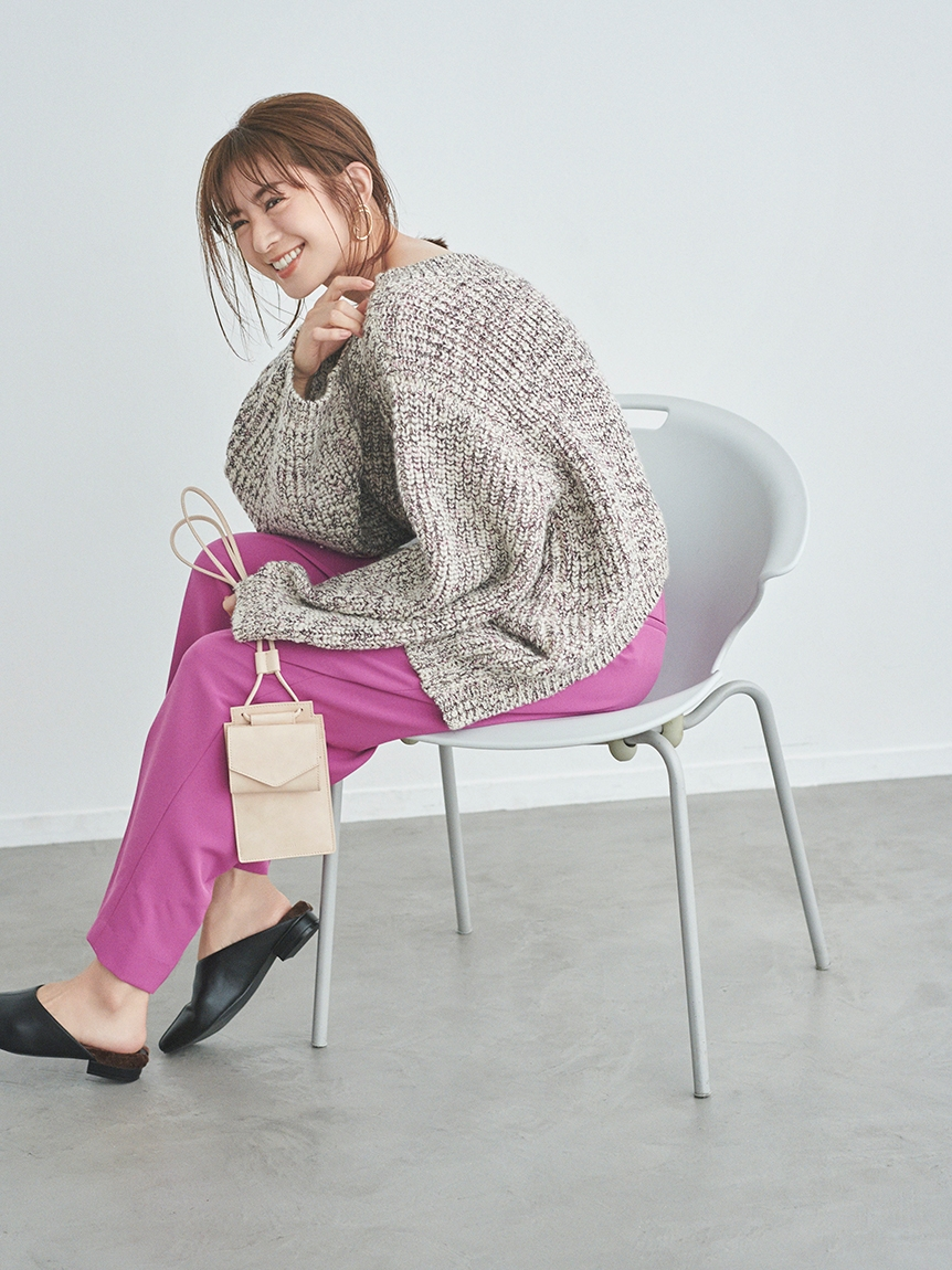 【emmi atelier】メランジニットトップス