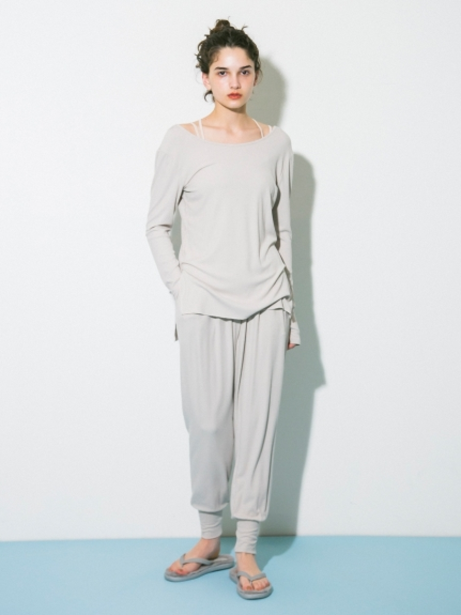【emmi yoga】テレコパンツ(LGRY-0)