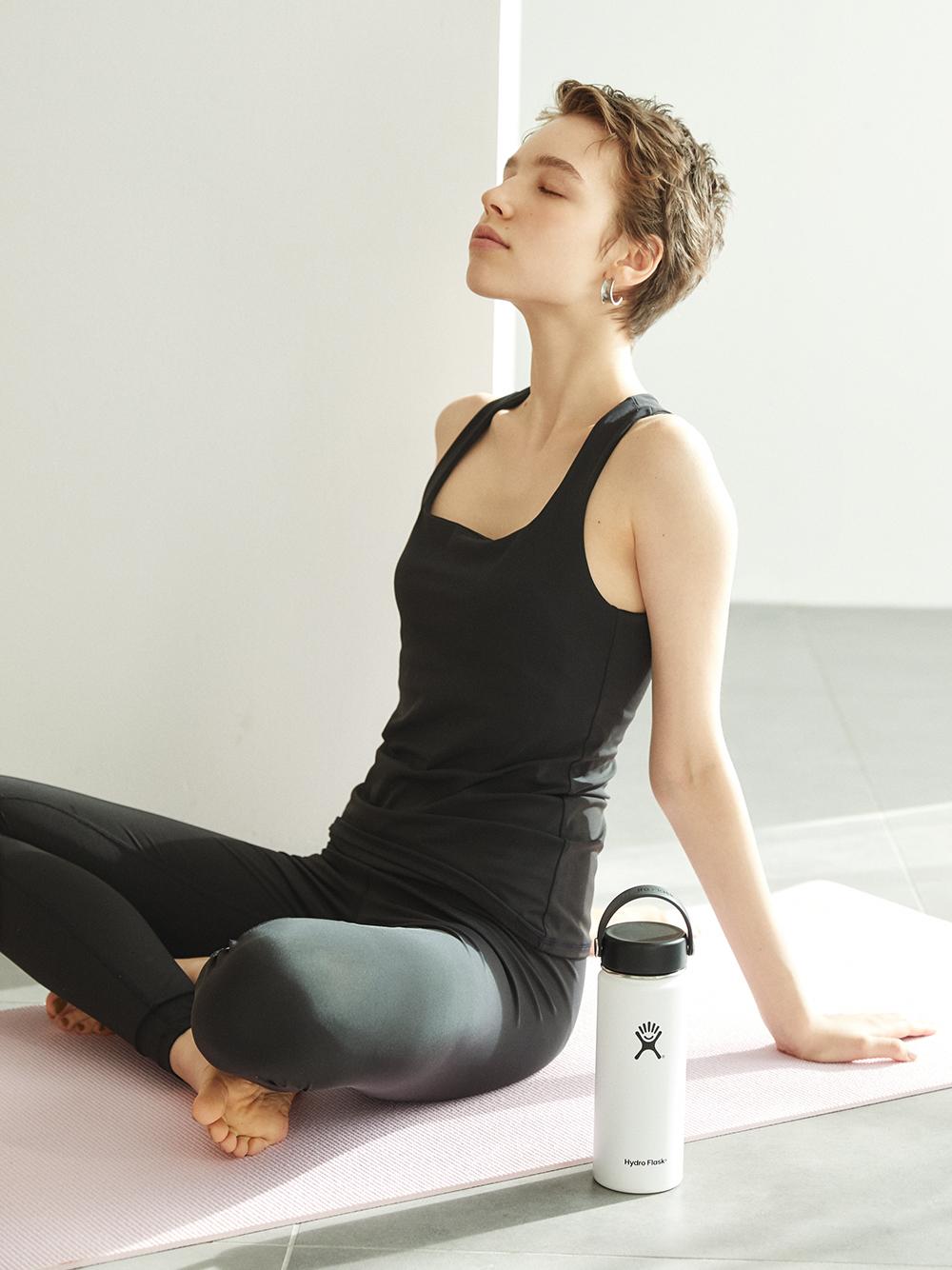 【emmi yoga】eco ベーシックレギンス(BLK-0)