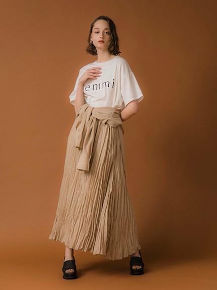 【emmi yoga】ビッグロゴTシャツ JAPAN MADE(WHT-F)