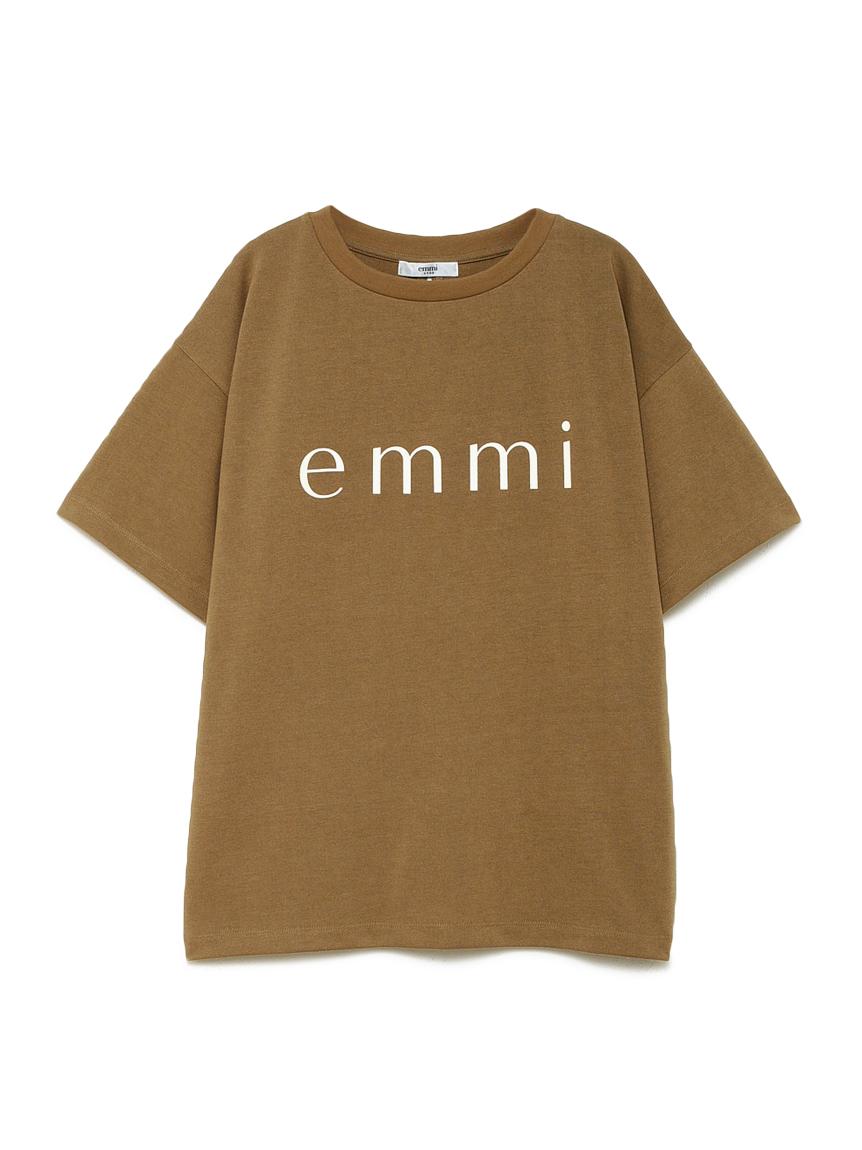 【emmi yoga】ビッグロゴTシャツ JAPAN MADE(BEG-F)