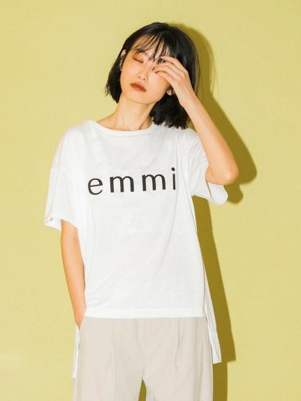 【emmi yoga】emmiロゴECO Tシャツ(WHT-F)