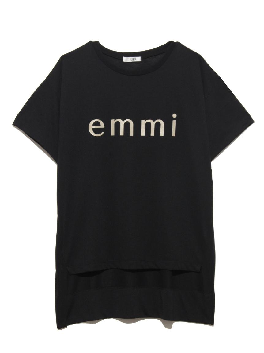 【emmi yoga】emmiロゴECO Tシャツ(BLK-F)