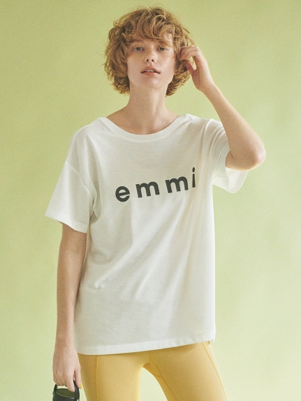 【emmi yoga】eco・emmiロゴT-shirt