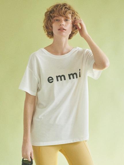【emmi yoga】eco・emmiロゴT-shirt(WHT-F)
