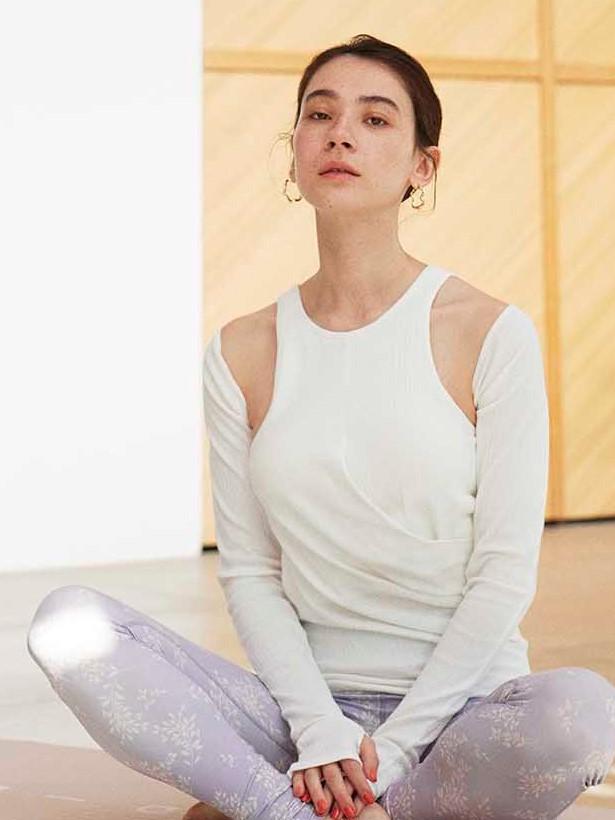 【emmi yoga】スリーブボレロ付きタンクトップ(WHT-F)