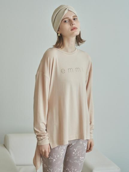 【emmi yoga】サスティナロゴL/S TEE