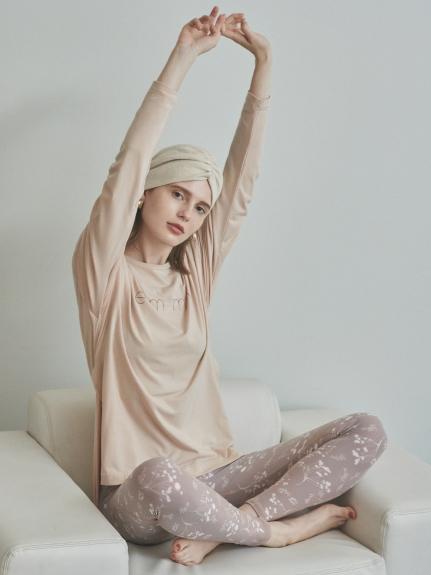 【emmi yoga】サスティナロゴL/S TEE(PBEG-F)