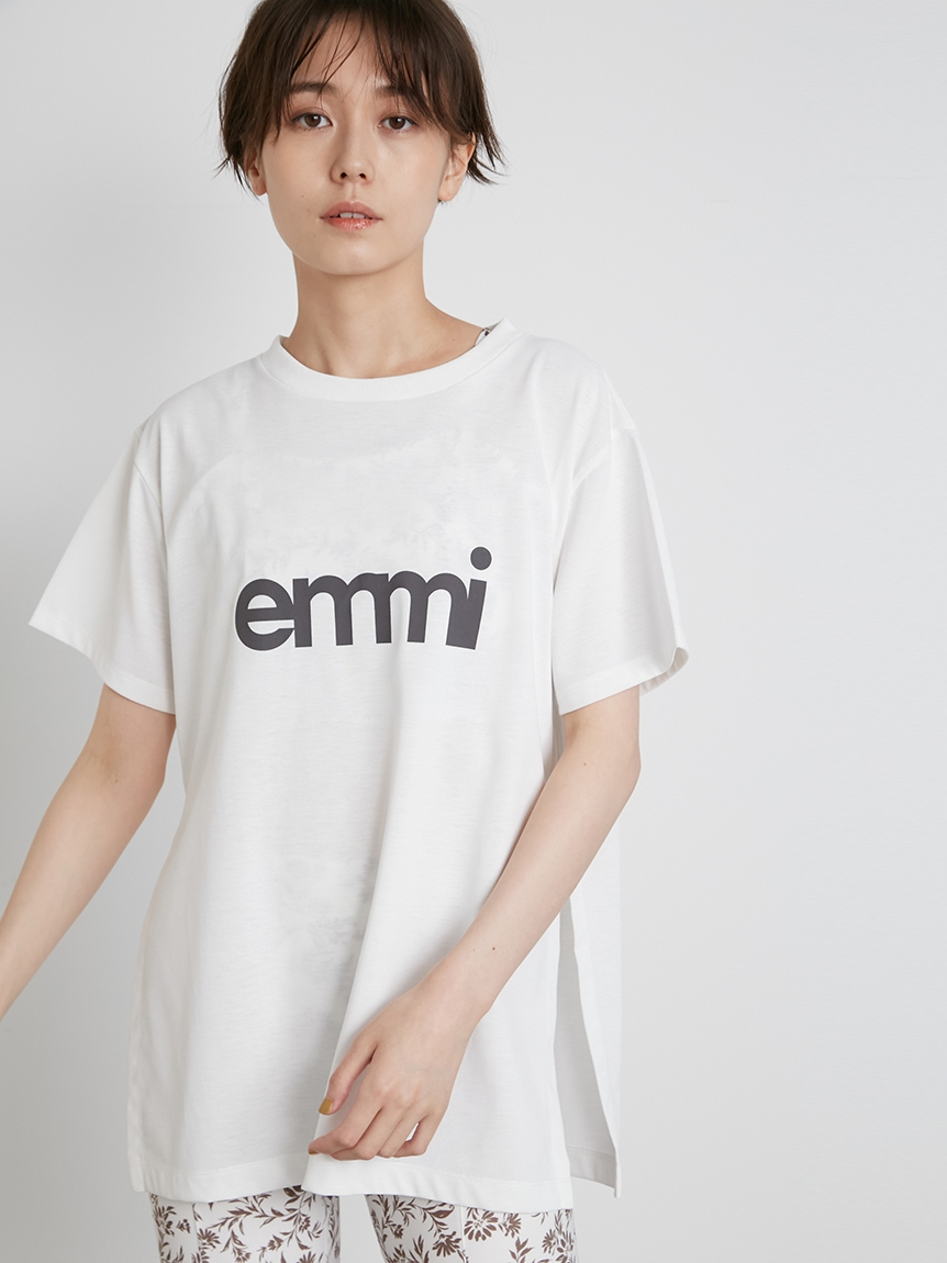 【emmi yoga】emmiロゴサスティナTシャツ(WHT-F)