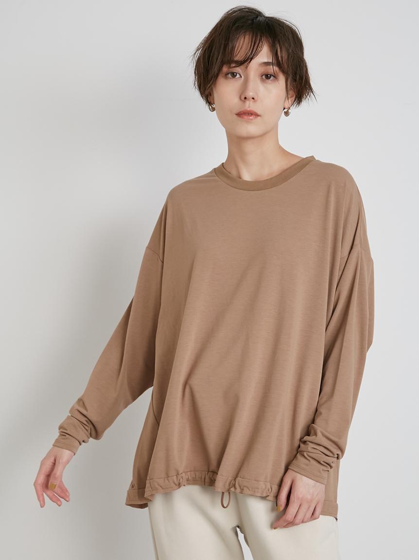 【emmi yoga】ロゴロングスリーブT-shirts(BEG-F)