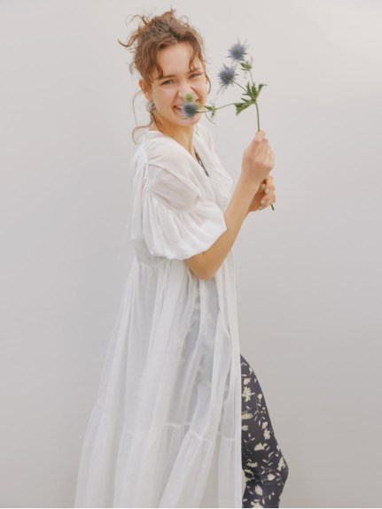 【emmi yoga】Select by aya yoga シフォンワンピース(IVR-0)