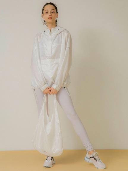 【emmi yoga】ecoセットパッカブルパーカー(WHT-F)