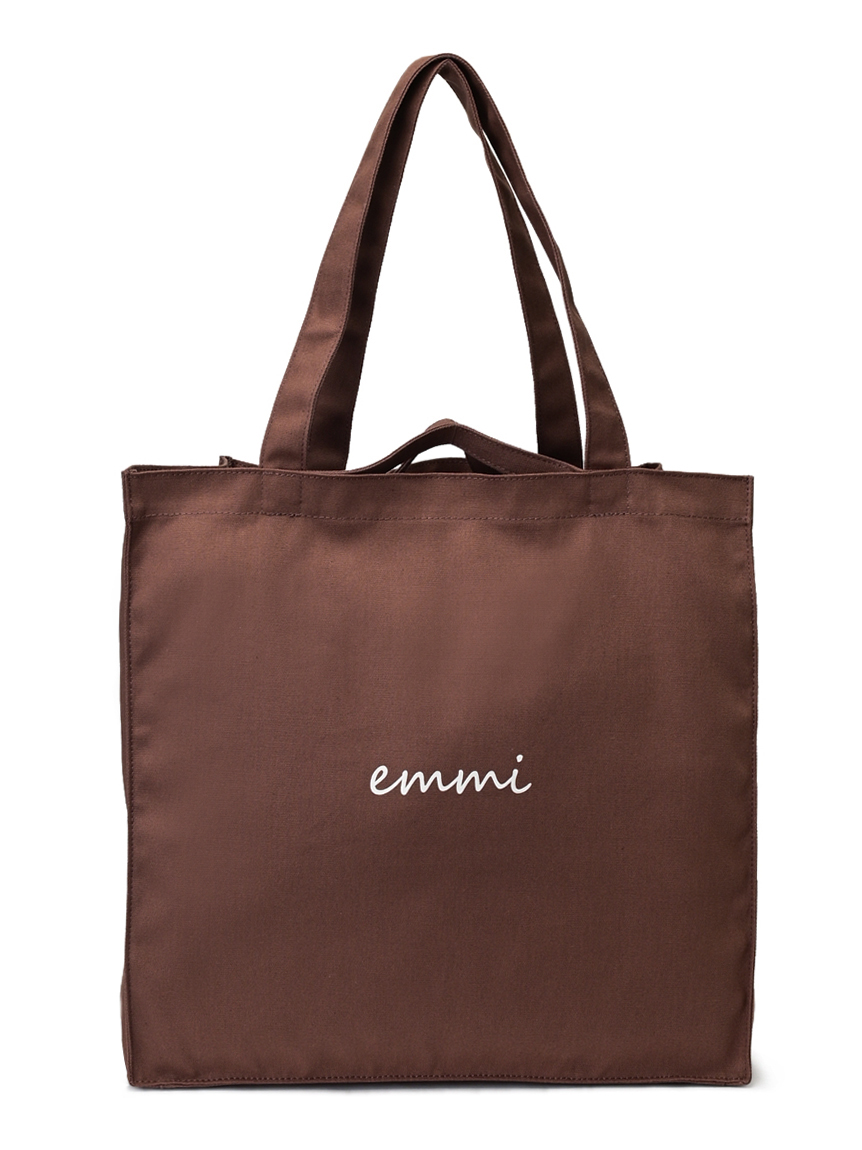 【emmi yoga】OFFICIAL ONLINE STORE限定 撥水ロゴトートバッグ(BRW-F)