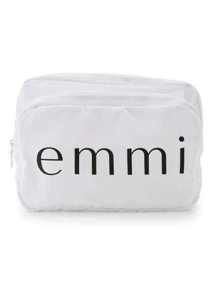 【emmi yoga】emmiロゴポーチ(WHT-F)