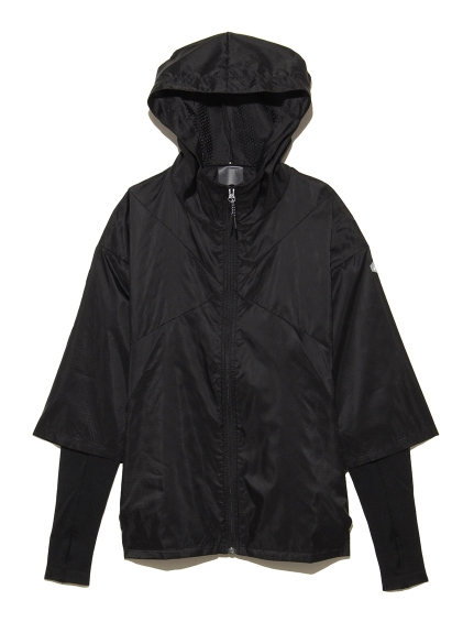【ASICS SportStyle】WOVEN HYBRID FZ HOODIE(BLK-S)